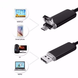 10m USB endoskop pre PC a Android USB/microUSB Hard