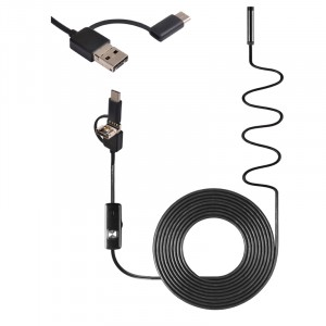 10m/7mm endoskop pre PC a Android USB/microUSB/USB-C Hard
