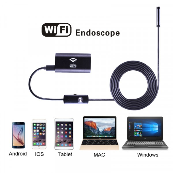 Wifi endoskop pre iOS, Android, Windows 3,5m, Hard
