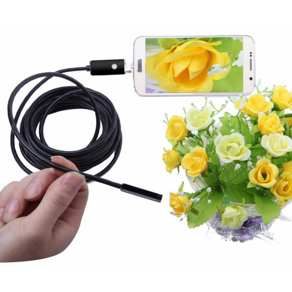 5m/8mm USB endoskop pre PC a Android USB/microUSB
