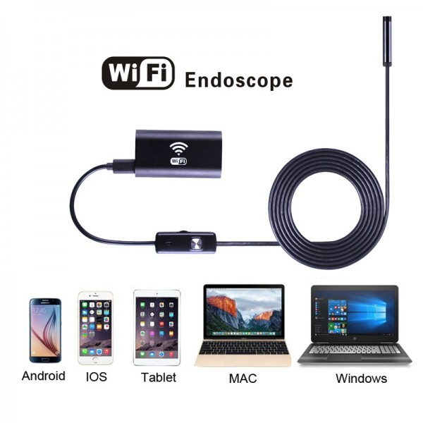 Wifi endoskop pre iOS, Android, Windows 10m, Hard